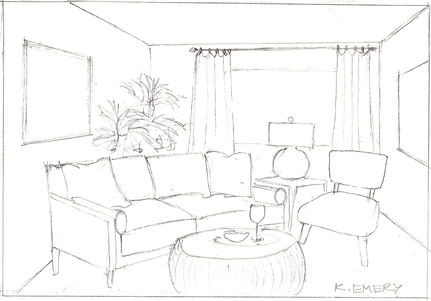 Emery associates interior design for Interior designs sketches