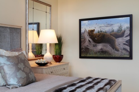 Detail shot of Master Bedroom with Bear painting
