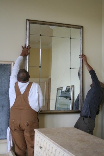 Putting the mirrors into position