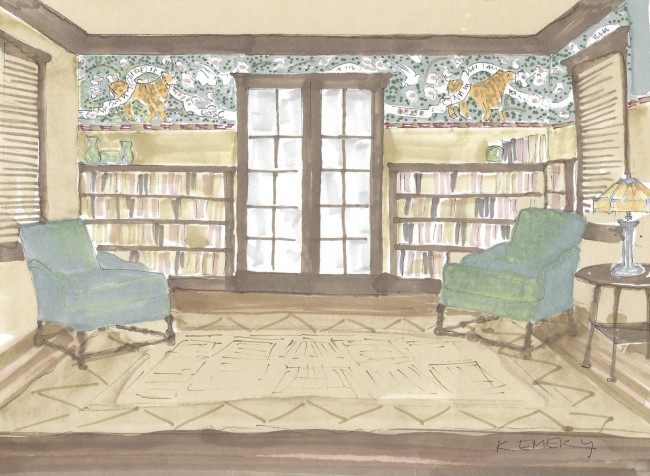 Kathia's Concept Sketch for Prexy Living Room